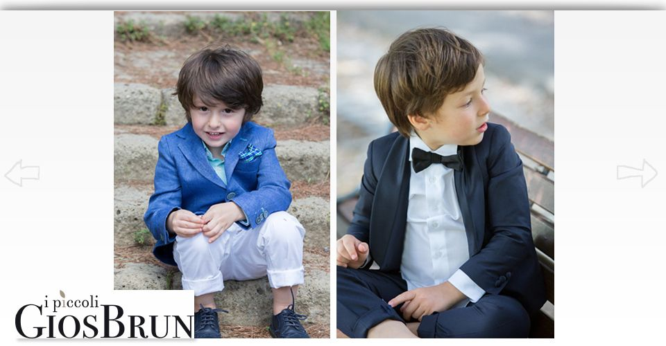 Kids wearing I Piccoli Gios Brun clothes