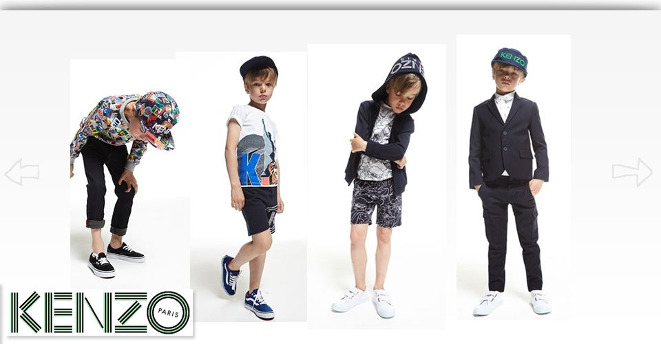 Kids wearing Kenzo clothes