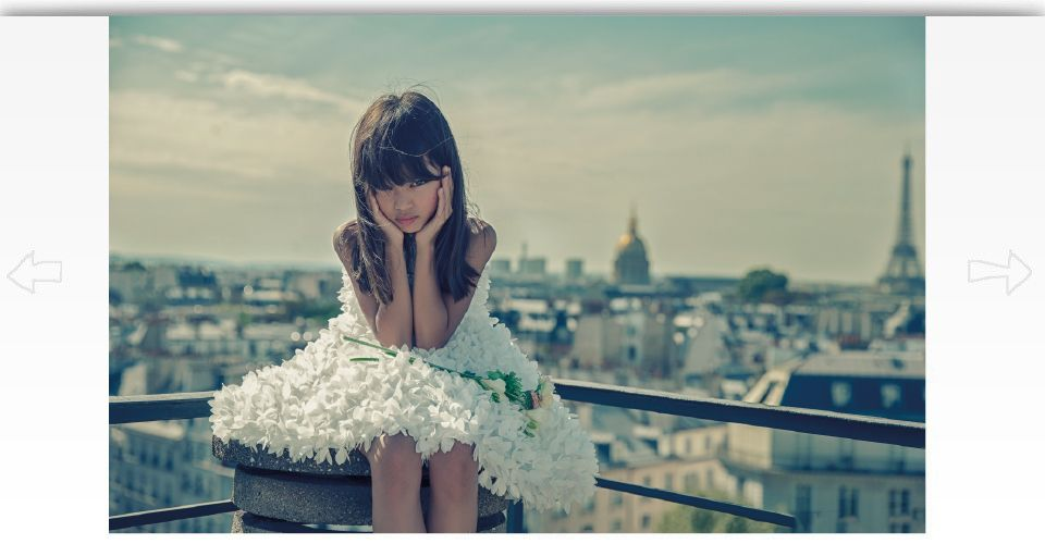 Girl wearing a dress in Paris
